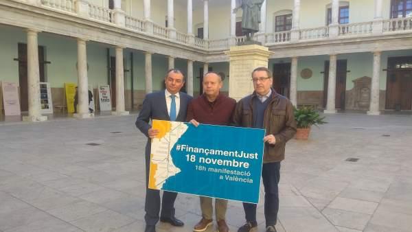 """Els convocants del 18N per un finançament just adverteixen que existeix el problema valencià, """"no solament Catalunya"""""""