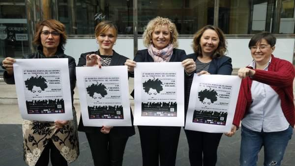 Tezanos apoya marcha contra violencia de génera