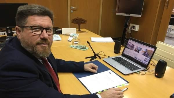 El consejero andaluz de Agricultura, Rodrigo Sánchez Haro