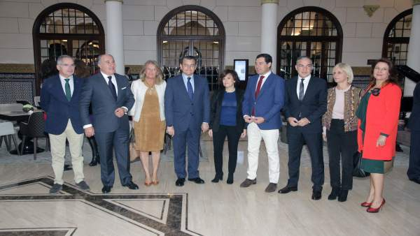 Saézn de Santamaria en un acto en Málaga