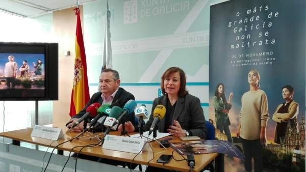 Presentación de la campaña contra la violencia machista en Lugo