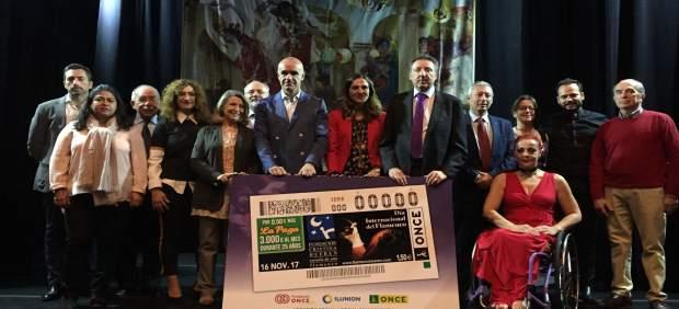 Presentación cupón de la ONCE dedicado a Fundación Cristina Heeren.