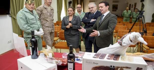 Diputación ha entregado al contigente 'Besmayah' casi 500 kilos de alimentos.
