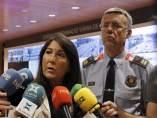 La directora de Trànsit, Eugenia Doménech, y el comisario jefe de M0vilidad de los Mossos d'Esquadra, Miquel Esquius.