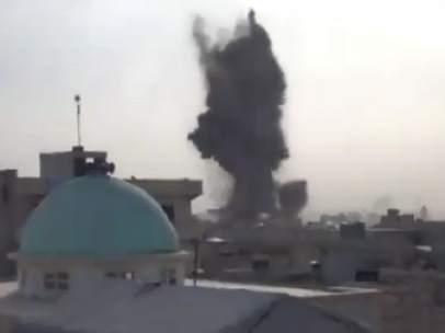 Bombardeo en Siria