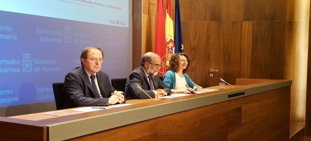 Luis Gabilondo, Fernando Domínguez y María José Pérez.