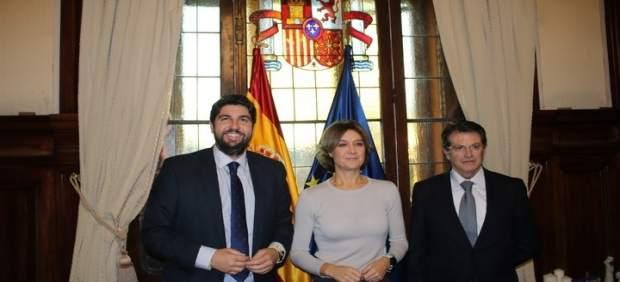 Presidente Lopez Miras con Jódar y ministra Tejerina en reunión en Madrid