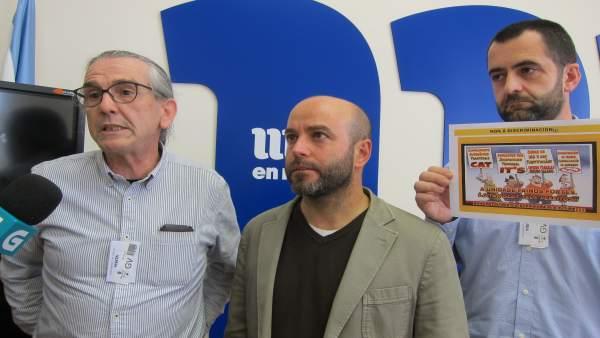 Luís Villares con personal de Justicia de Galicia.