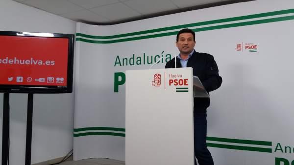 El secretario de Política Municipal del PSOE de Huelva, Ezequiel Ruiz.