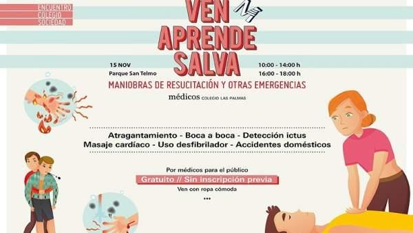 Cartel de la actividad del Colegio de Médicos de Las Palmas