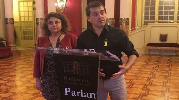 Diputados de MÉS per Menorca y MÉS per Mallorca en el Parlament