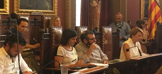Margalida Durán en la bancada popular. Pleno de Cort
