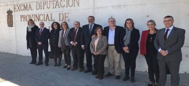 Grupo del PP en la Diputación tras la toma de posesión de Pablo García