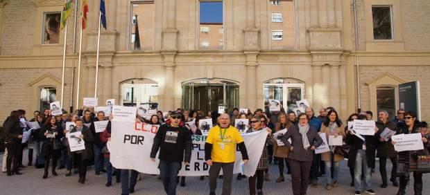 Protesta en forma de rap  ante Palacio Justicia