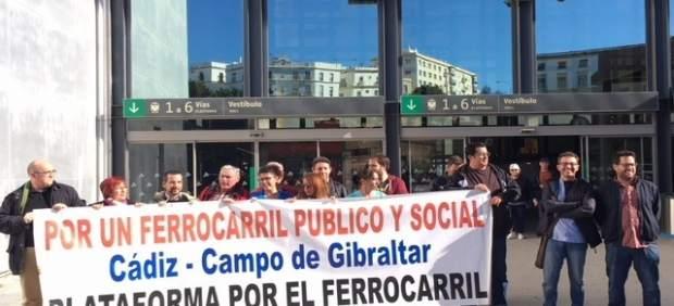 Manifestación ferroviaria