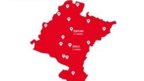 Mapa de los centros inscritos en el programa 'Escuelas con memoria'.