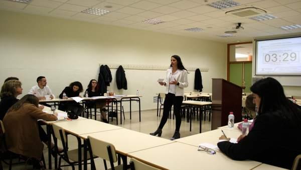 Celebración del I Torneo de Debate Académico Interno de la UJA.