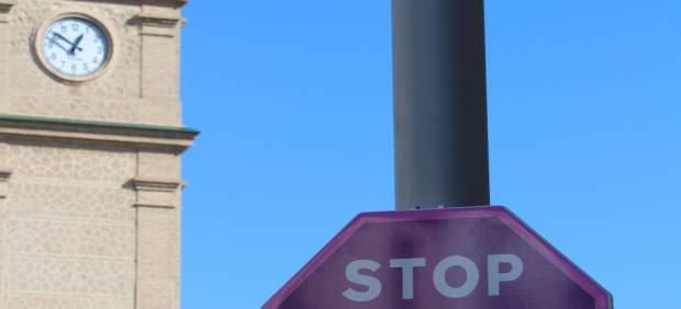 Señal contra la violencia de género en Pinos Puente