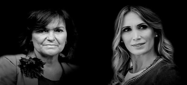 Carmen Calvo y Cristina Sánchez, mano a mano en Fundación Cajasol