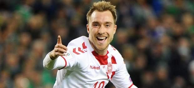 Gol de Eriksen con Dinamarca