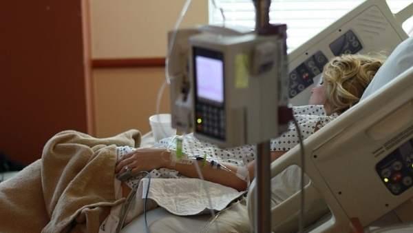Una enferma en un hospital
