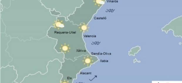 Cels clars i màximes en ascens, este dimecres a la Comunitat Valenciana