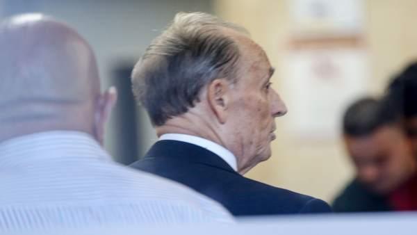 Expresidente del Real Betis Manuel Ruiz de Lopera, este lunes en la Audiencia