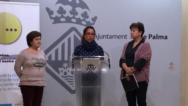 La teniente de alcalde Aurora Jardi en rueda de prensa