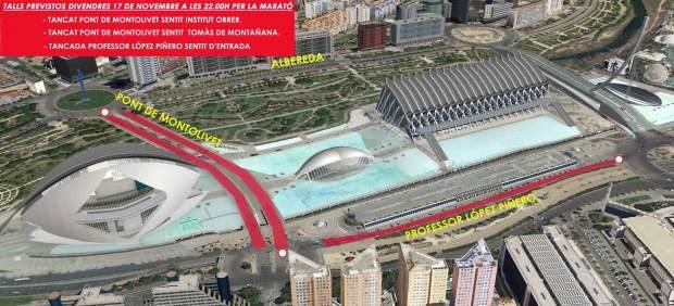 La Marató de València provocarà corts de trànsit des d'este divendres a València