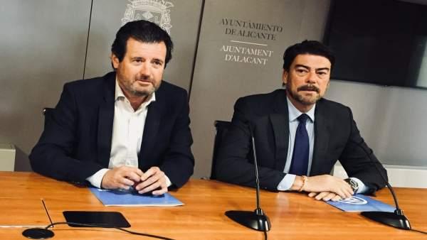 """El PP demana estar al capdavant d'""""un govern d'excepció"""" a Alacant enfront de l'""""alcalde ocupa"""" Gabriel Echávarri"""