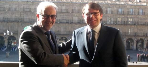 El rector de la USAL y el alcalde de Salamanca.