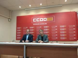 Arturo León (CCOO PV) y Unai Sordo (CCOO)