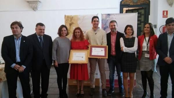 Autoridades y galardonados en los premios EcoTrama y EcoRacimo