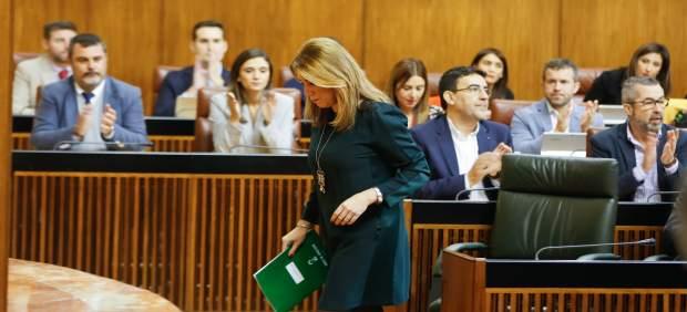 La presidenta de la Junta, Susana Díaz, en el Pleno del Parlamento