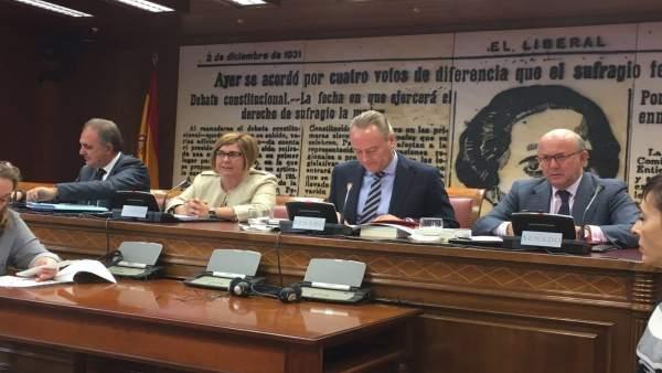 Rosario Cordero en el Senado
