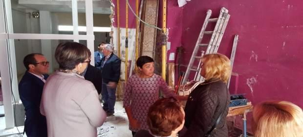 Edificio en obras dentro del programa Rehabilita