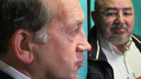 Xoaquín Fernández Leiceaga (PSdeG) y Roberto García (UU.AA.)