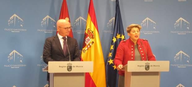 La portavoz del Gobierno murciano, Noelia Arroyo, en la rueda de prensa