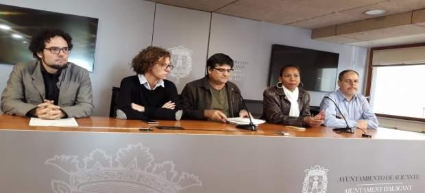 De izq a dcha: Simón, Moreno, Pavón, Angulo y Domínguez