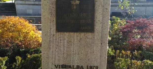 Desaparece el busto de Manuel Fraga en Vilalba (Lugo)