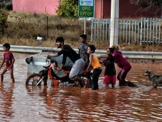 Inundaciones en Grecia