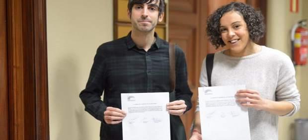Nagua Alba y Eduardo Maura, de Podemos País Vasco