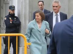 Forcadell sale del Tribunal Supremo.