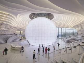 La biblioteca futurista que acaba de abrir sus puertas en China