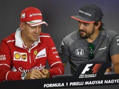 Vettel y Alonso
