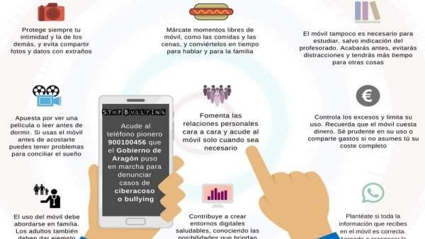 Diez consejos para realizar un uso responsable del móvil