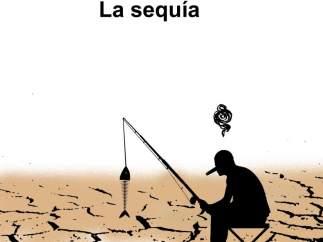 La sequía. Viñeta de Malagón.