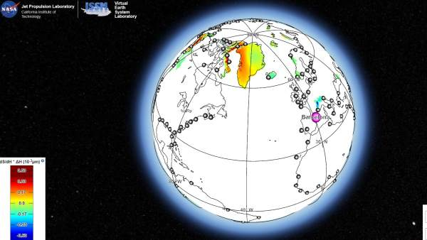 Mapa del nivel del mar