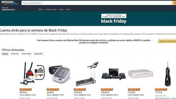 e5783d175 Cuenta atrás para el Black Friday en Amazon. AMAZON. Amazon prevé un Black  Friday de récord en España y superar las ventas del año pasado ...