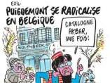 'Charlie Hebdo' se burla de la huída de Puigdemont a Bruselas